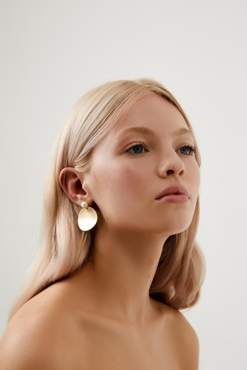 Gold Dangle Earring Wedding by Amelie George Bridal