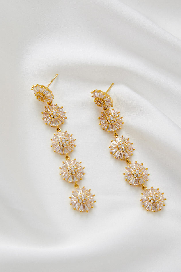Wedding Earrings Boho by Amelie George Bridal-Gold