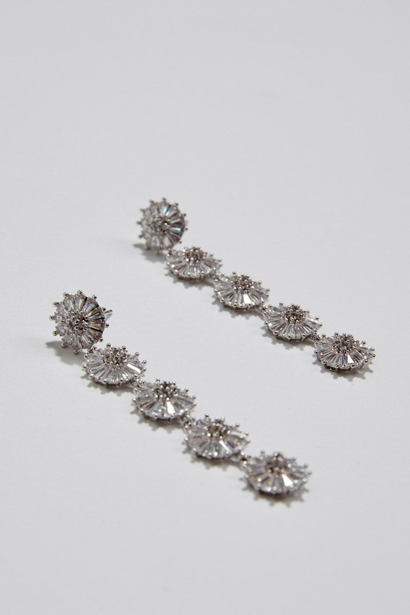 Wedding Earrings Boho by Amelie George Bridal, Silver