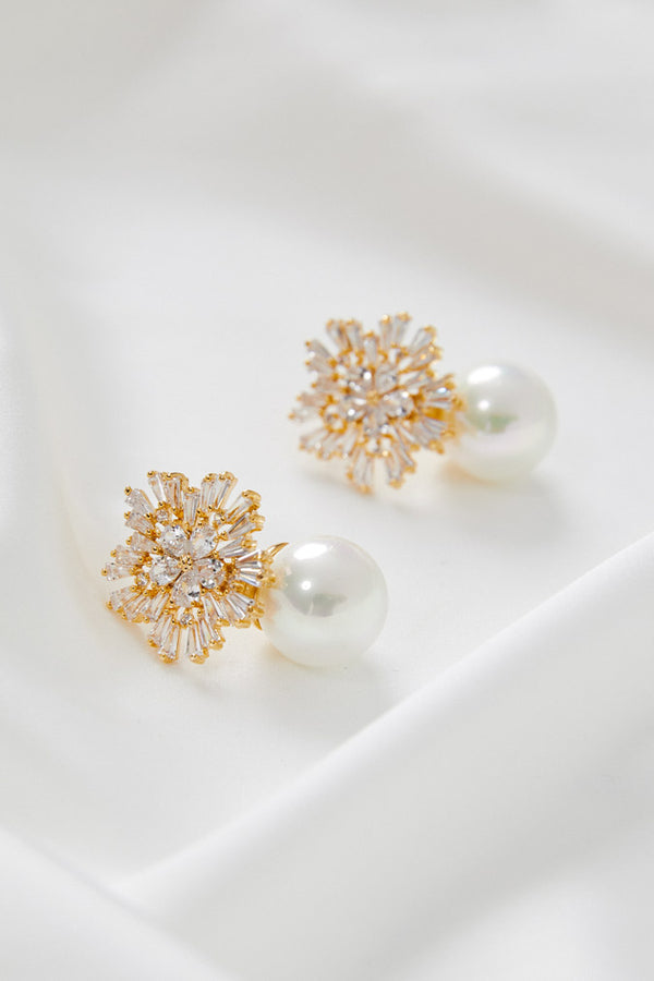 Wedding Earrings Gold by Amelie George Bridal