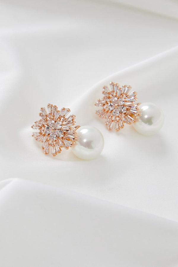 Wedding Earrings Rose Gold by Amelie George Bridal