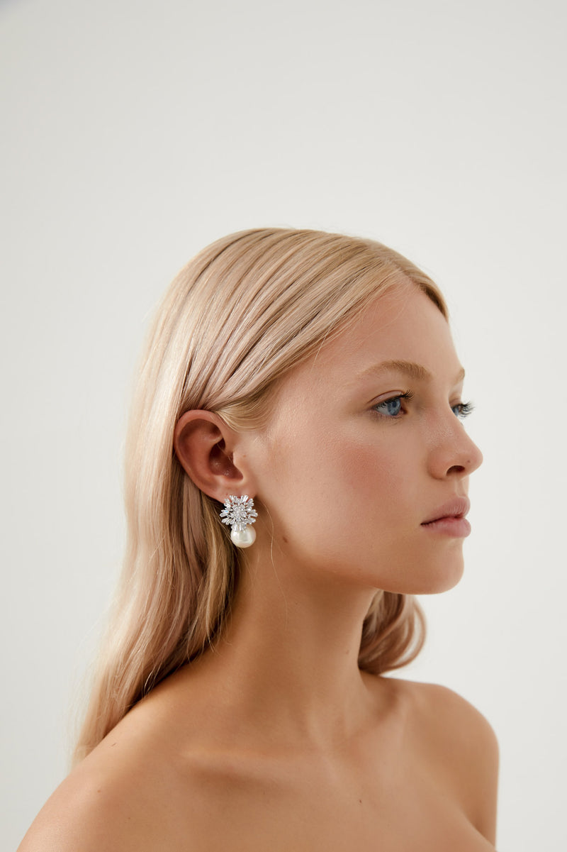 Wedding Earrings for Bride by Amelie George Bridal in White Gold