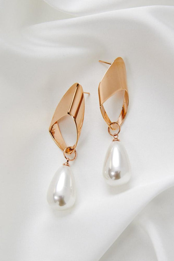 Wedding Jewellery, Rose Gold Earrings by Amelie George Bridal
