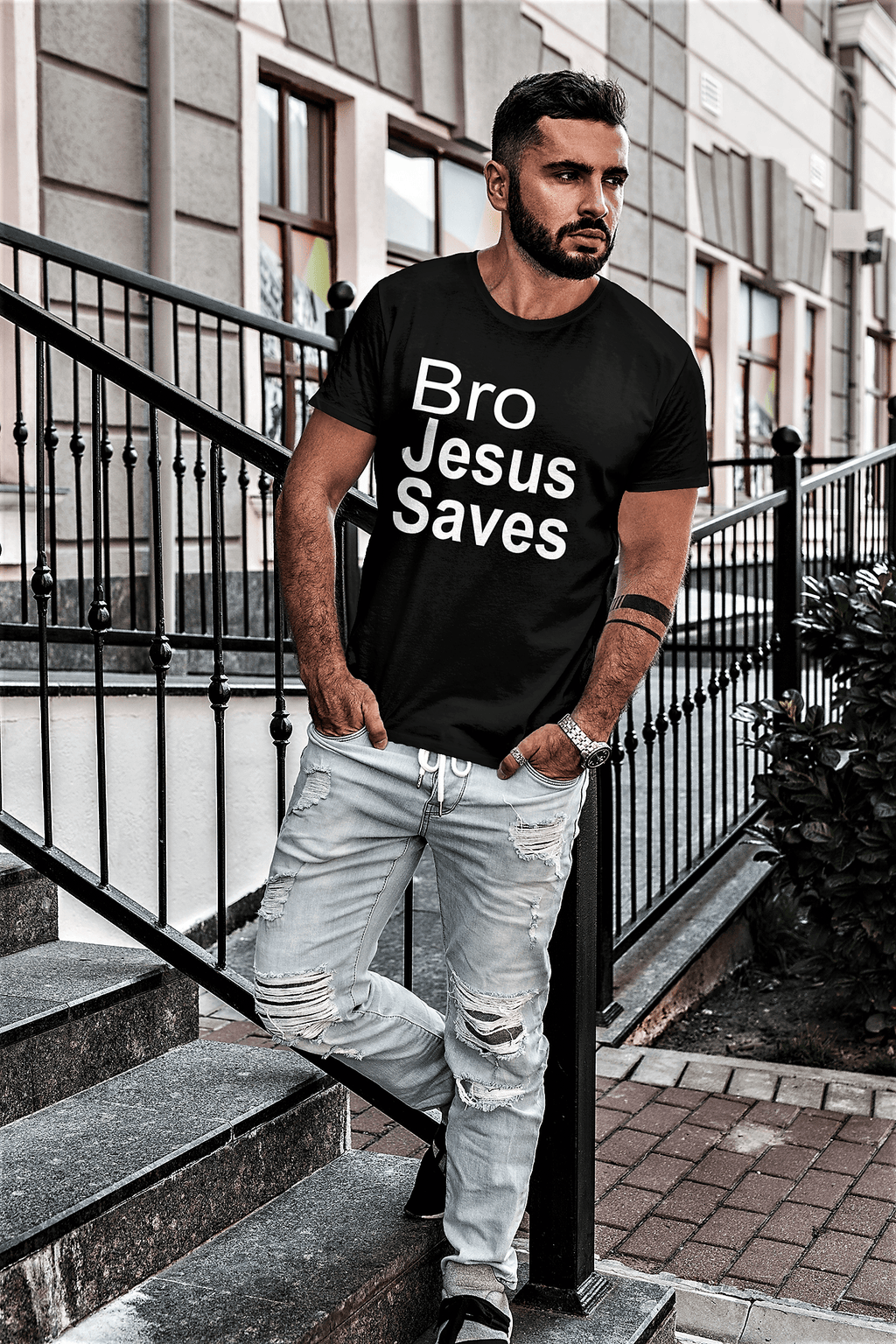 Bro Jesus Saves Shirt