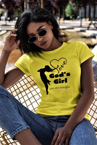 God's Girl short sleeved Christian Shirt T Shirt God's Girl