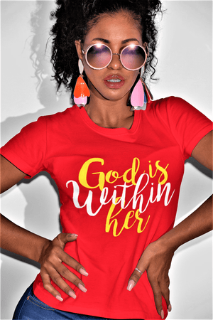 God is Within Her T Shirt