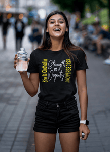 She is Clothed in Strength and Dignity shirt