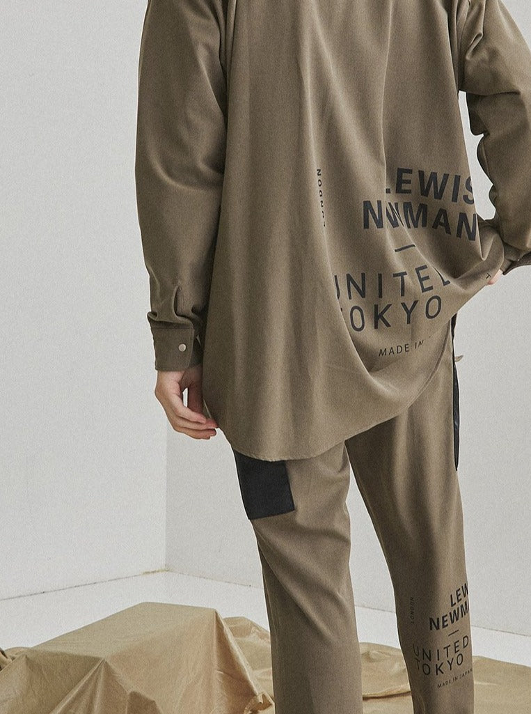 LEWIS NEWMAN × UNITED TOKYO LONG CPO SHIRTS【Beige】