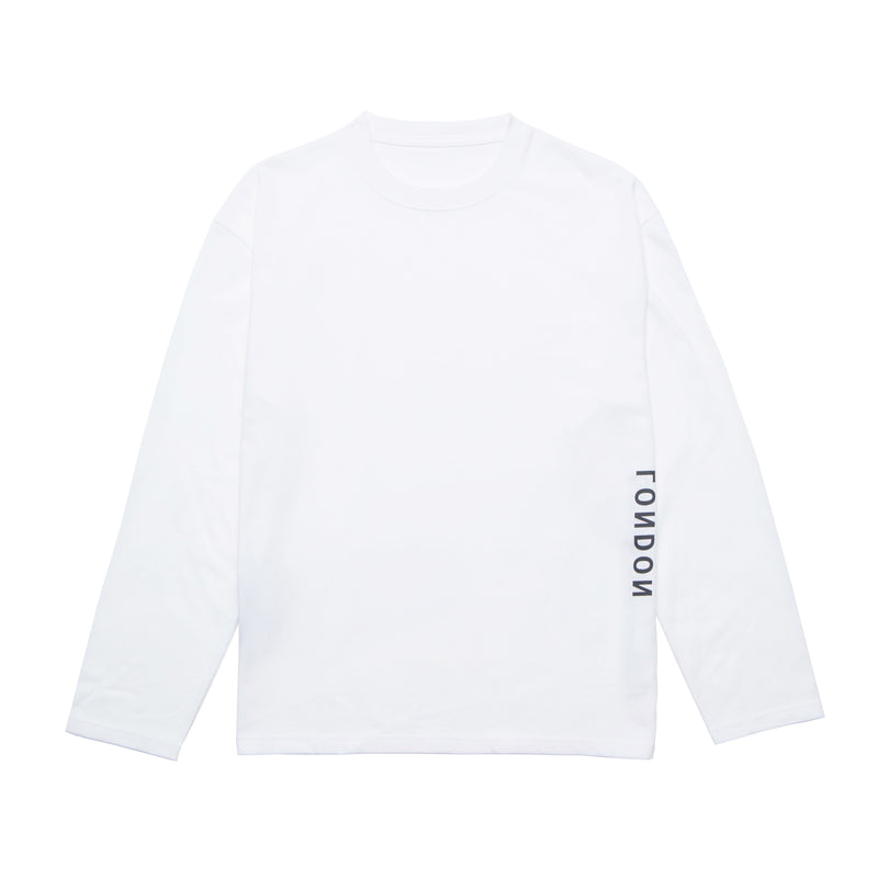 Screen logo print Long T-shirt【White】