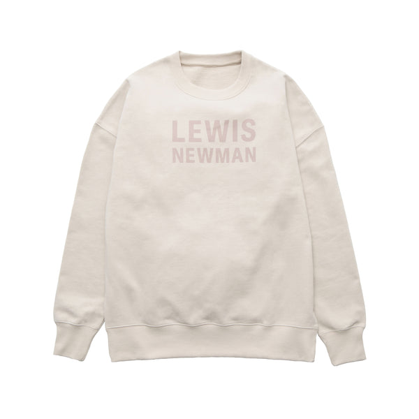 Wide rubber print Sweat pullover【Beige】
