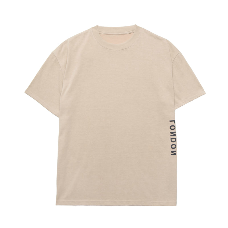 Screen logo print T-shirt【Beige】