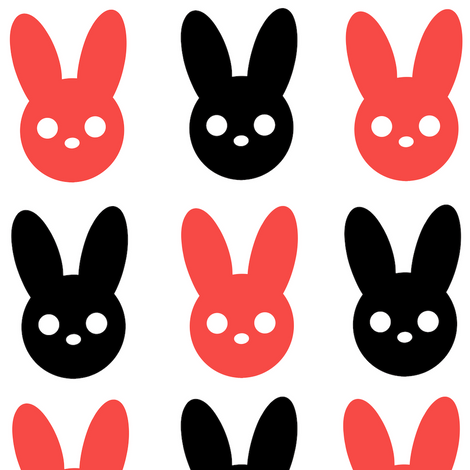 Harmony Rabbit Red and Black