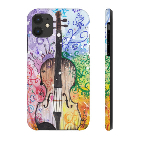 Rainbow Violin Tough Phone Cases