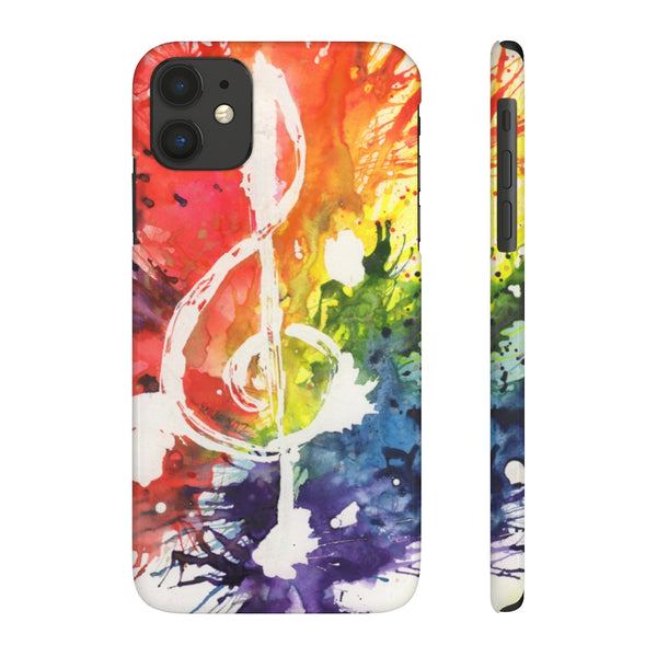 Rainbow Treble Clef Case Mate Slim Phone Cases