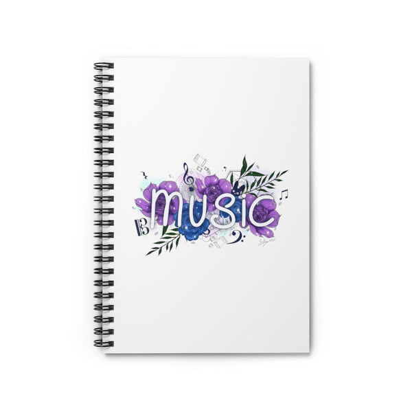 Music Spiral Notebook - Ruled Line