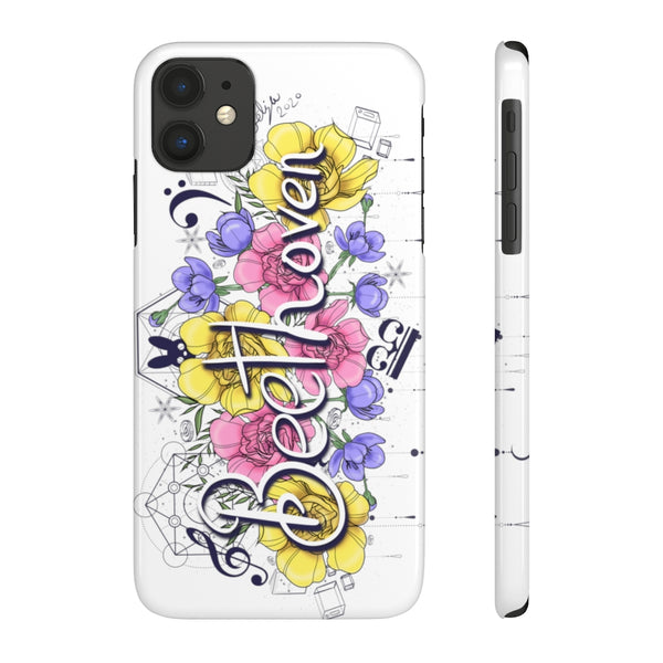 Beethoven Flowers Case Mate Slim Phone Cases