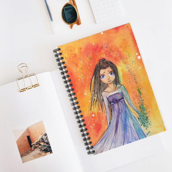 Princess Witch Spiral Notebook - Ruled Line