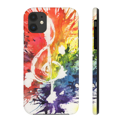 Rainbow Treble Clef Case Mate Tough Phone Cases