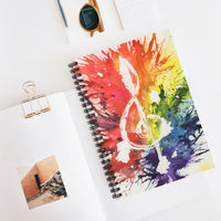 Rainbow Treble Clef Spiral Notebook - Ruled Line