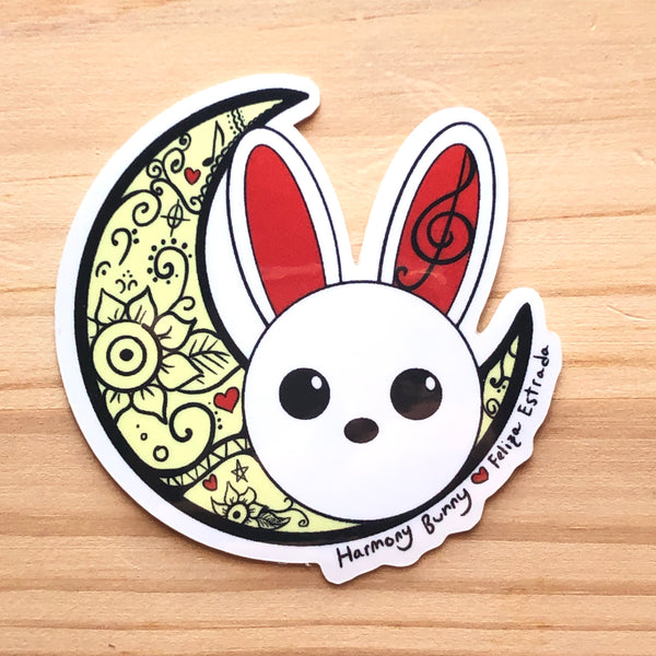 Moon Rabbit Vinyl Sticker
