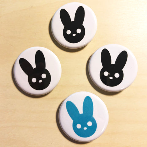 Harmony Rabbit Black & Blue Button Set