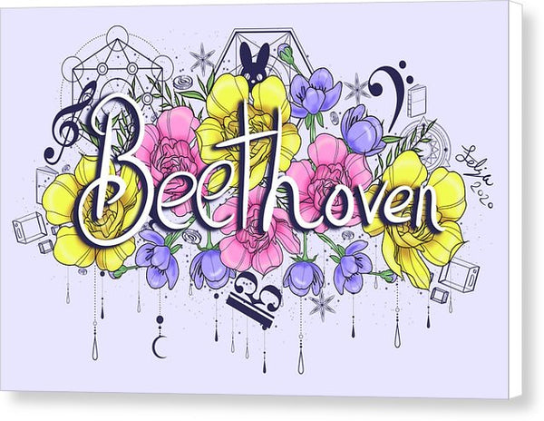 Beethoven Flowers - Canvas Print