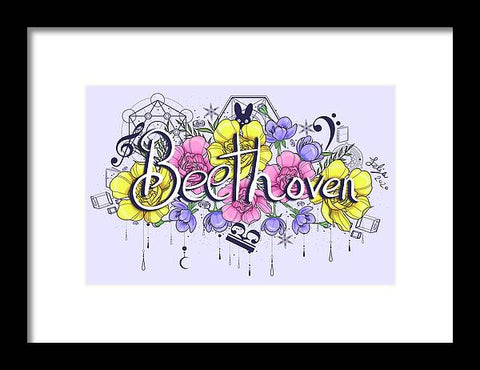 Beethoven Flowers - Framed Print