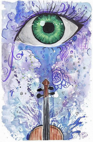 Eye Violin - Art Print