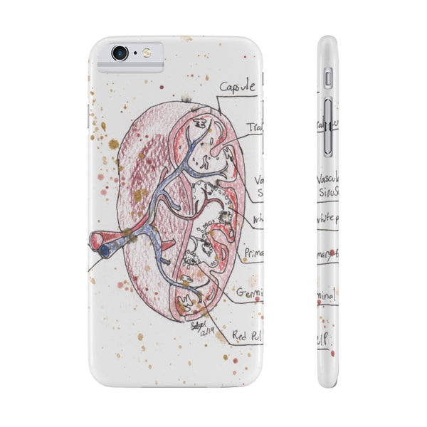 Spleen Anatomy Case Mate Slim Phone Cases