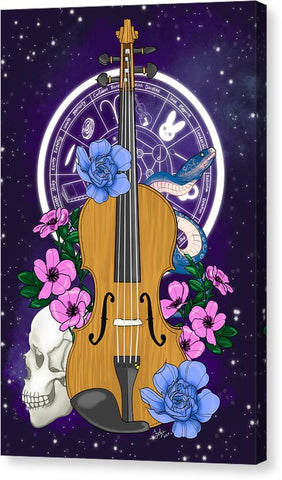 Galaxy Violin - Canvas Print