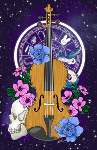 Galaxy Violin - Art Print