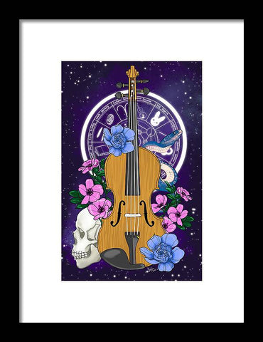 Galaxy Violin - Framed Print