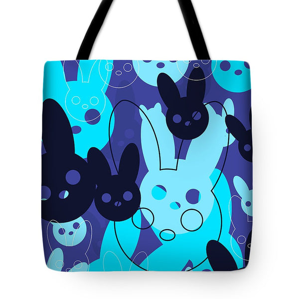 Harmony Rabbit Blue Wave - Tote Bag