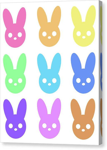 Harmony Rabbit Chromatic Scale - Canvas Print