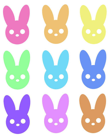 Harmony Rabbit Chromatic Scale - Art Print