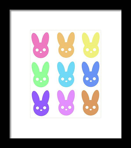 Harmony Rabbit Chromatic Scale - Framed Print