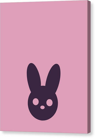 Harmony Rabbit Duo Pink and Purple - Canvas Print