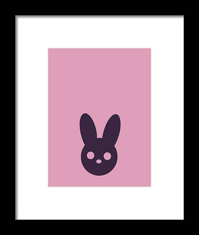 Harmony Rabbit Duo Pink and Purple - Framed Print