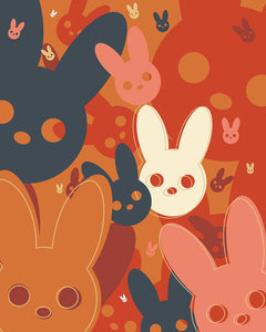 Harmony Rabbit Fall Colors - Art Print