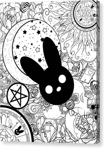 Harmony Rabbit Sun, Moon, and Stars - Canvas Print
