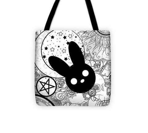 Harmony Rabbit Sun, Moon, and Stars - Tote Bag