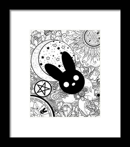 Harmony Rabbit Sun, Moon, and Stars - Framed Print