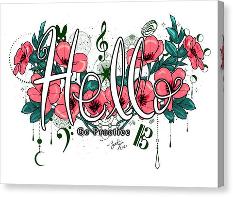 Hello Go Practice - Canvas Print