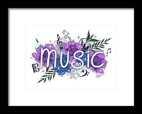 Music - Framed Print