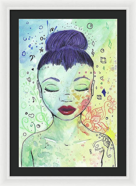 Peacful Day Dream - Framed Print