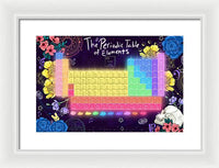Periodic Table of Elements - Framed Print