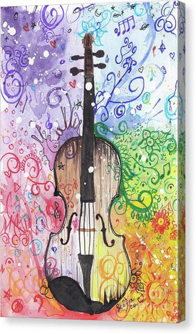 Rainbow Violin  - Canvas Print