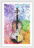 Rainbow Violin  - Framed Print