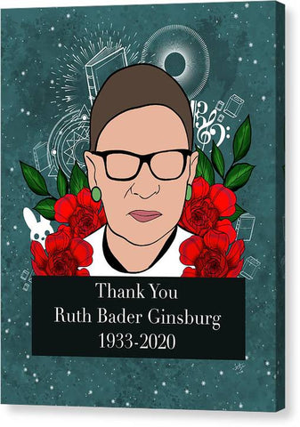 Thank You RBG - Canvas Print