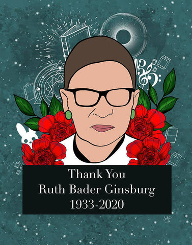 Thank You RBG - Art Print